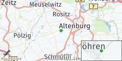 Google Map of Göhren bei Altenburg