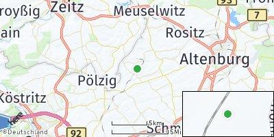 Google Map of Naundorf bei Altenburg