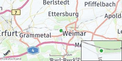 Google Map of Hopfgarten bei Weimar