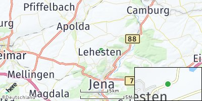 Google Map of Lehesten bei Jena