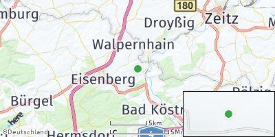 Google Map of Crossen an der Elster