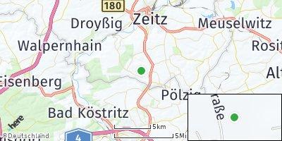 Google Map of Schellbach bei Zeitz
