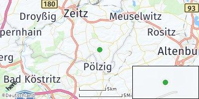 Google Map of Wittgendorf bei Zeitz