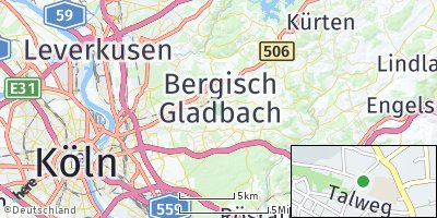 Google Map of Bergisch Gladbach