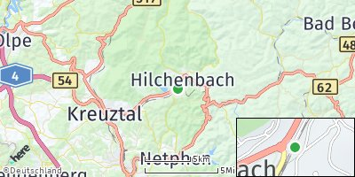 Google Map of Hilchenbach