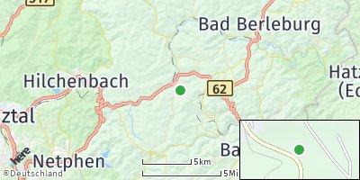 Google Map of Erndtebrück