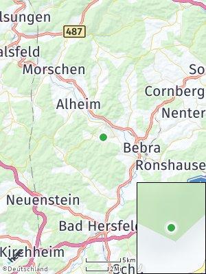 Here Map of Rotenburg an der Fulda