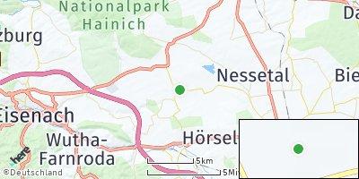 Google Map of Friedrichswerth bei Gotha