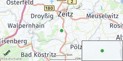 Google Map of Droßdorf bei Zeitz