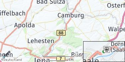 Google Map of Dorndorf-Steudnitz