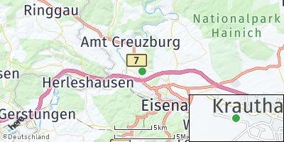 Google Map of Krauthausen bei Eisenach