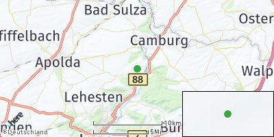 Google Map of Dornburg / Saale