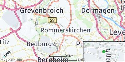 Google Map of Rommerskirchen