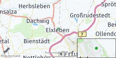 Google Map of Elxleben an der Gera