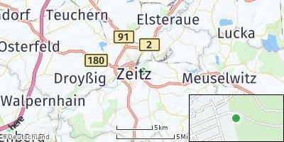 Google Map of Zeitz