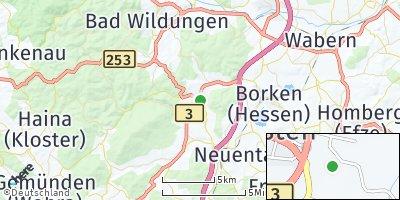 Google Map of Bad Zwesten