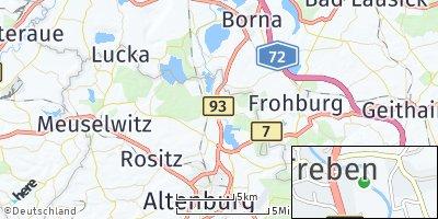 Google Map of Treben bei Altenburg