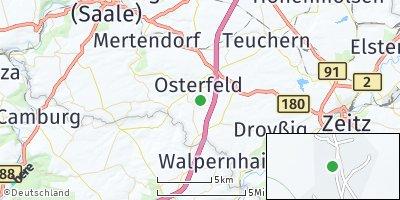 Google Map of Osterfeld bei Naumburg