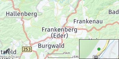 Google Map of Frankenberg