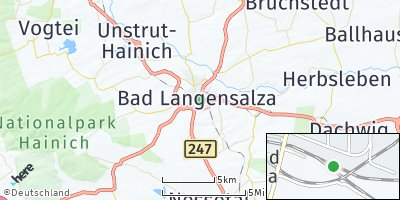 Google Map of Bad Langensalza