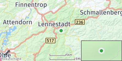 Google Map of Kirchhundem