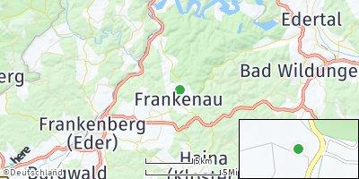 Google Map of Frankenau