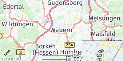 Google Map of Wabern