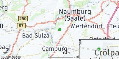 Google Map of Crölpa-Löbschütz