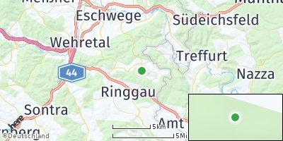 Google Map of Weißenborn bei Eschwege