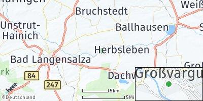 Google Map of Großvargula