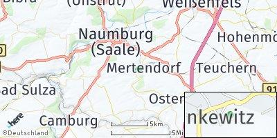 Google Map of Mertendorf bei Naumburg