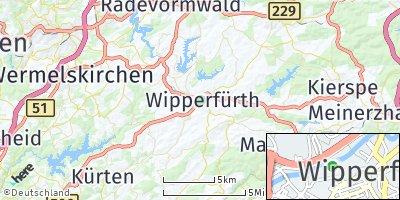 Google Map of Wipperfürth