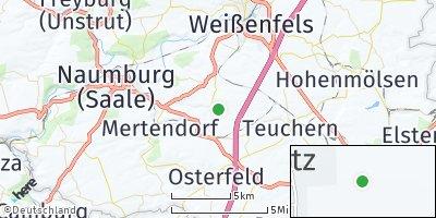 Google Map of Gröbitz bei Weißenfels