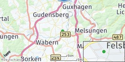 Google Map of Felsberg