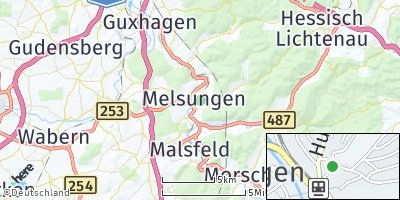 Google Map of Melsungen
