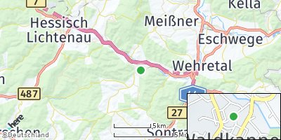 Google Map of Waldkappel