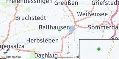 Google Map of Schwerstedt bei Sömmerda