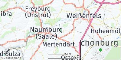 Google Map of Schönburg bei Naumburg