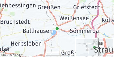 Google Map of Straußfurt