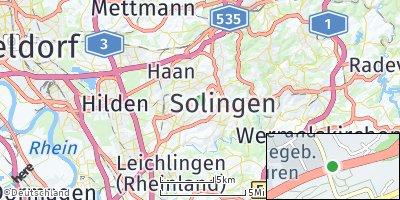 Google Map of Solingen