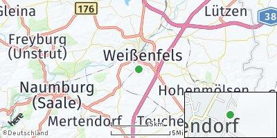 Google Map of Langendorf bei Weißenfels