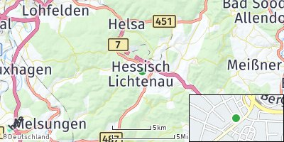 Google Map of Hessisch Lichtenau