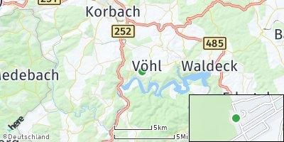 Google Map of Vöhl