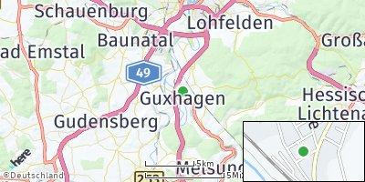 Google Map of Guxhagen