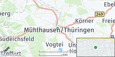 Google Map of Mühlhausen / Thüringen