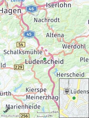 Here Map of Lüdenscheid