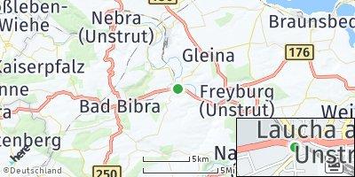 Google Map of Laucha an der Unstrut