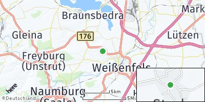 Google Map of Storkau bei Weißenfels