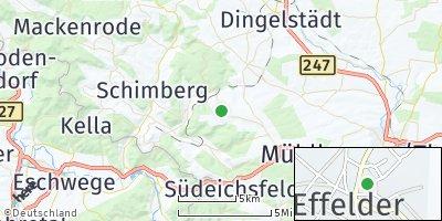 Google Map of Effelder bei Leinefelde
