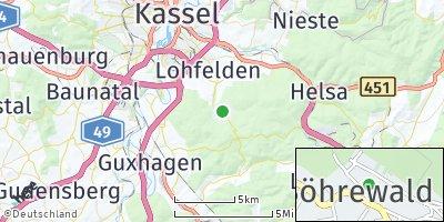 Google Map of Söhrewald
